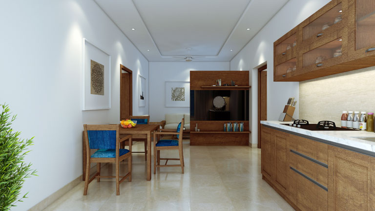 1 BHK Apartment Interior