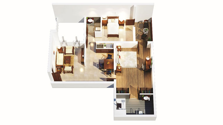 2 BHK Apartment Interior