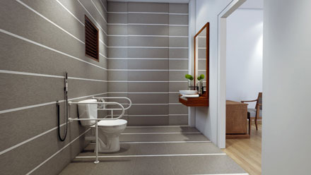 Bathrooms With Geriatric Facilities