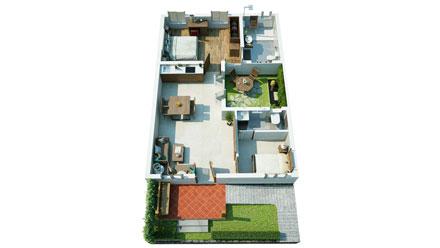 Villa Interior Floor Plan